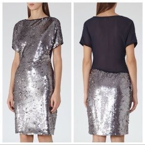 •Reiss• Teresa Sequin Party Dress